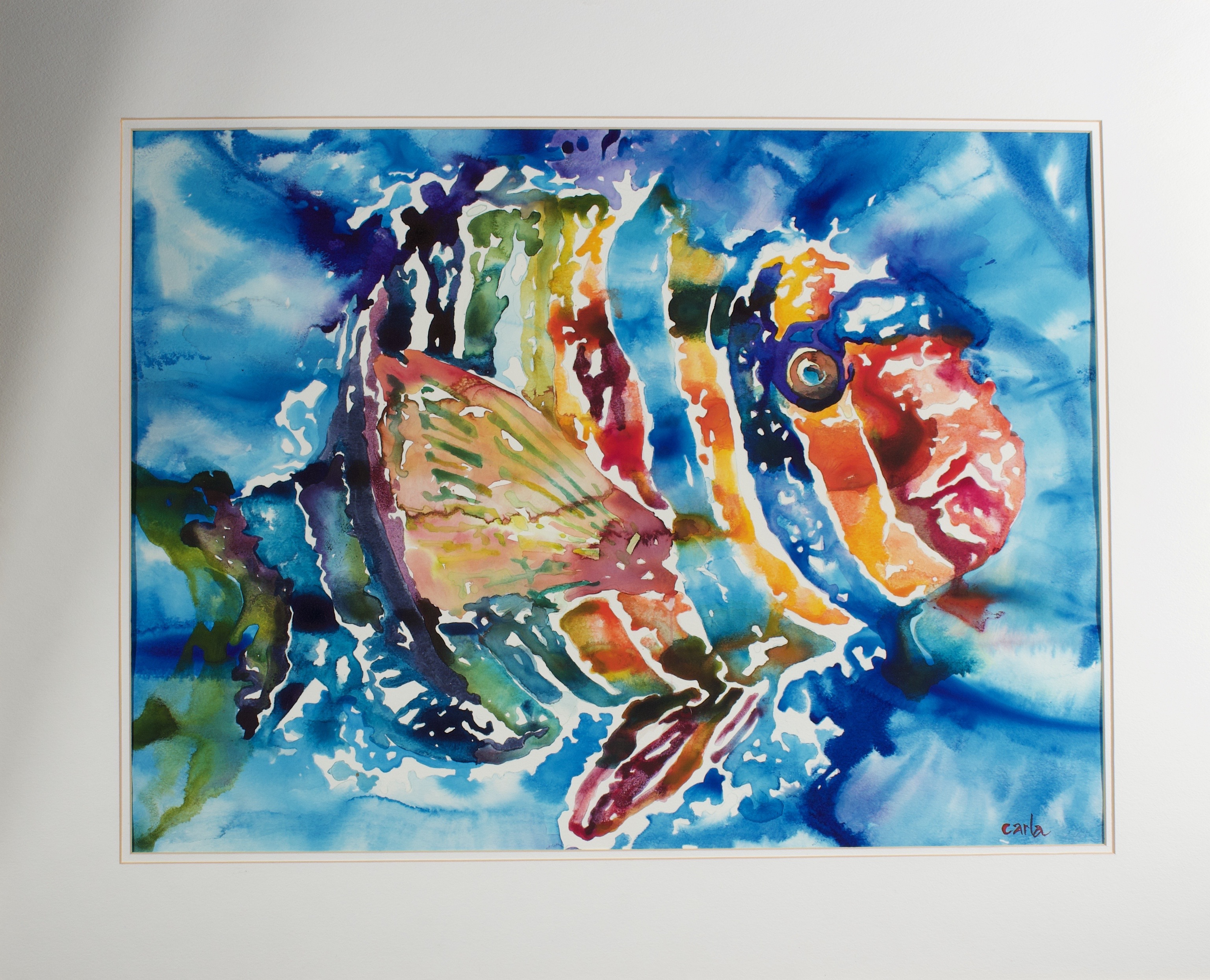 Imy, tropical fish watercolor