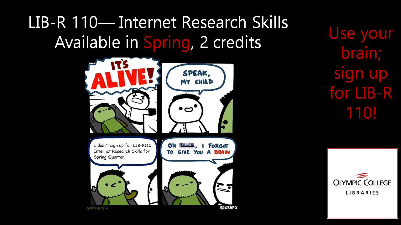 Internet Research Skills, LIB-R 110 for Spring