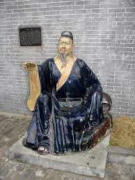 statue of Li Bai in traditional robes