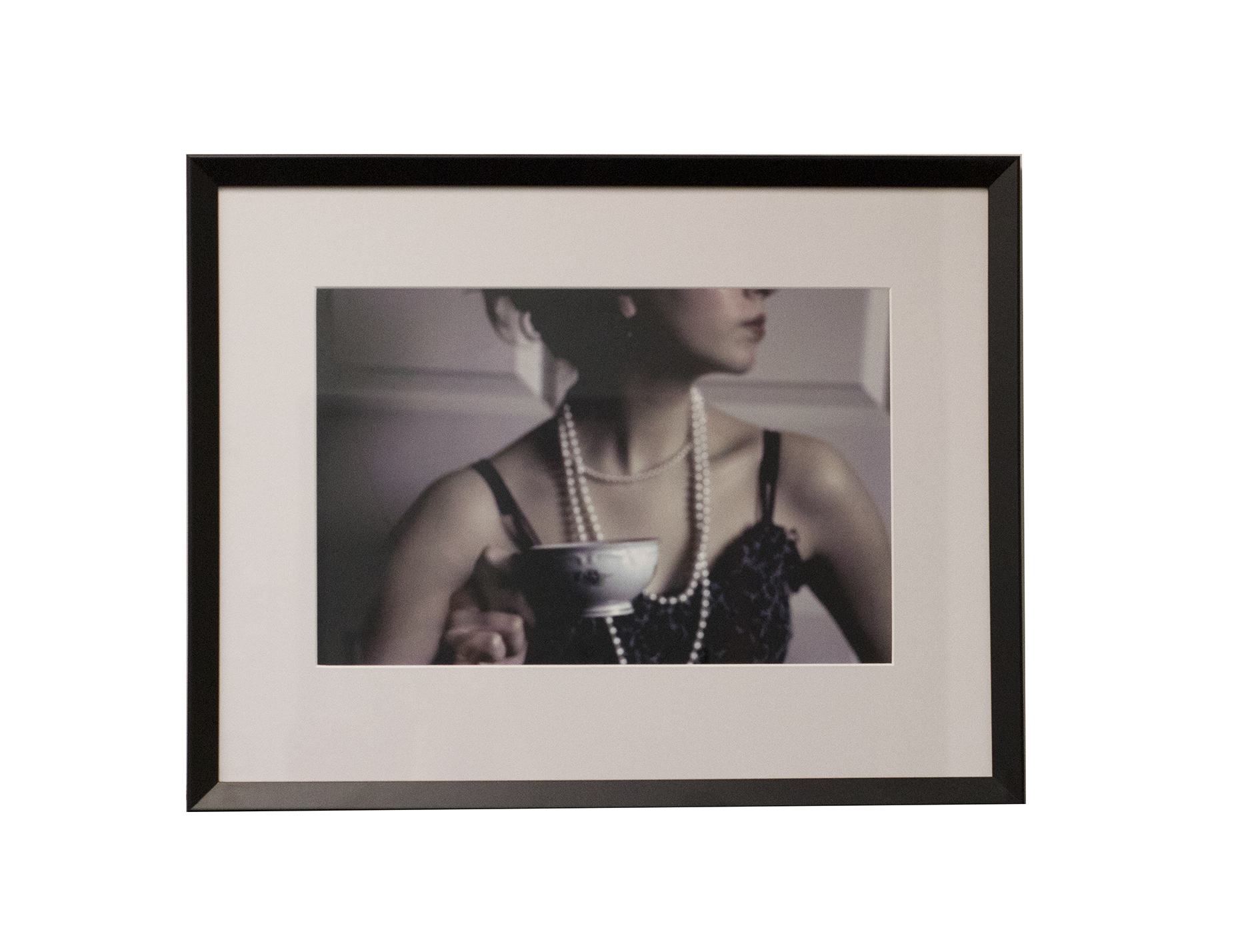 photo of a woman with a tea cup