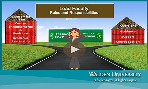 Video: Lead Faculty Video