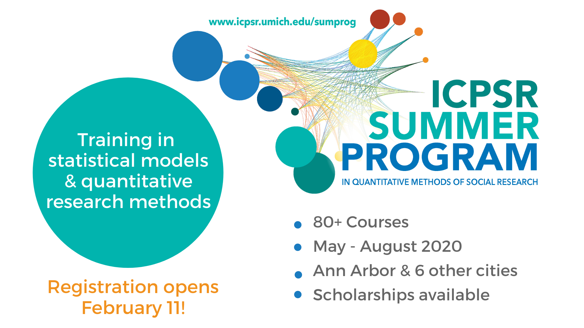 ICPSR Summer Program In quantitative methods of social research. www.icpsr.umich.edu/sumprog