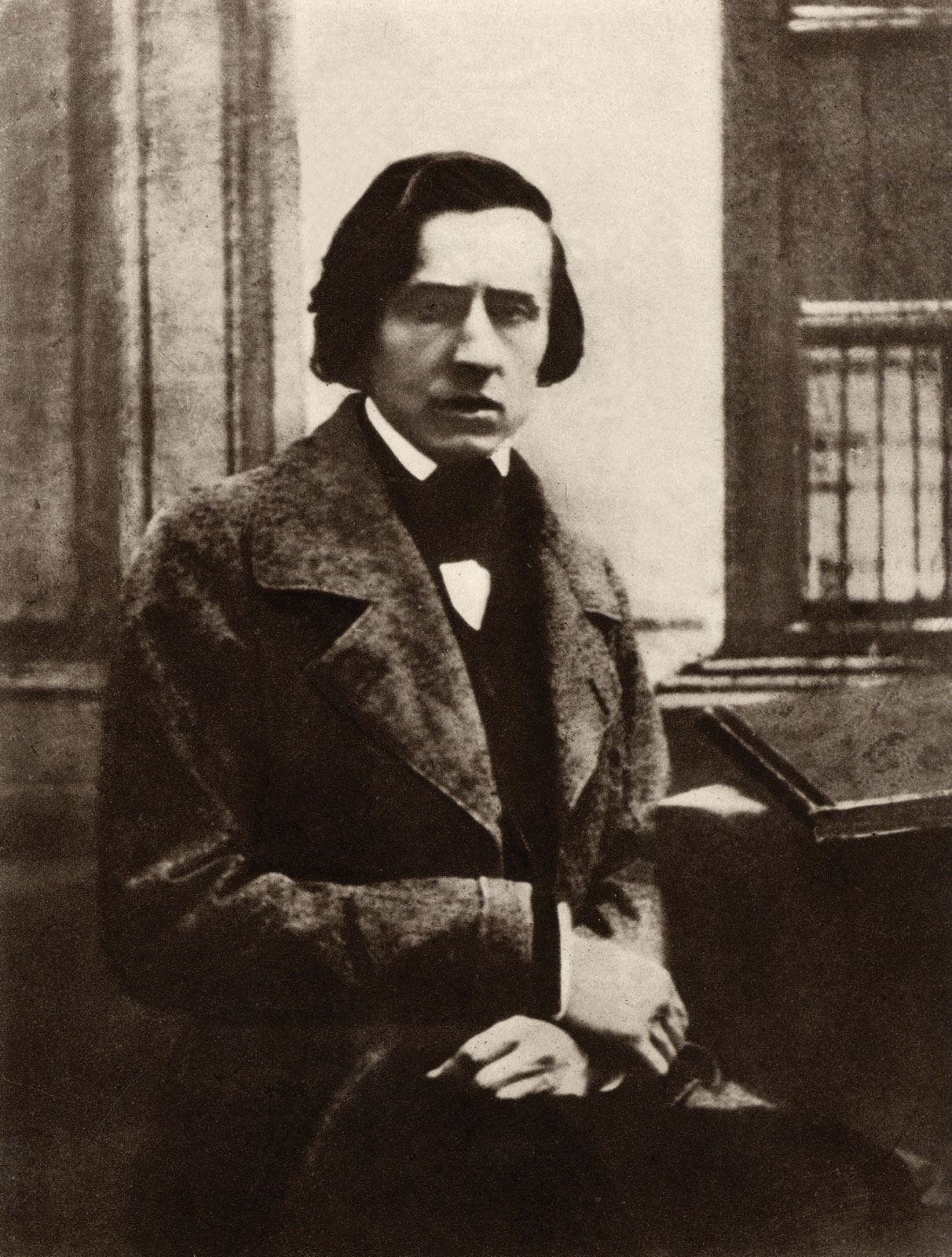 Frédéric Chopin photo in his home in the year 1849