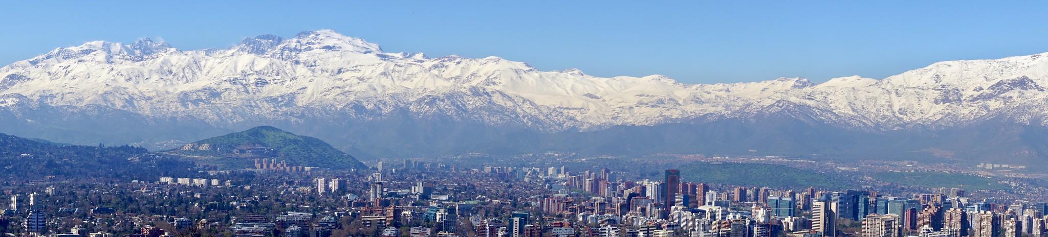 Panoramic photo of Santiago Chile