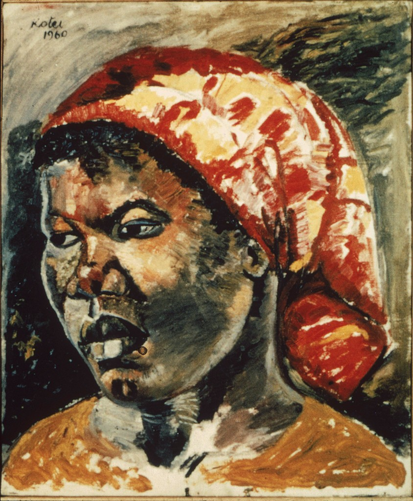 Adel with Red Scarf, 1960