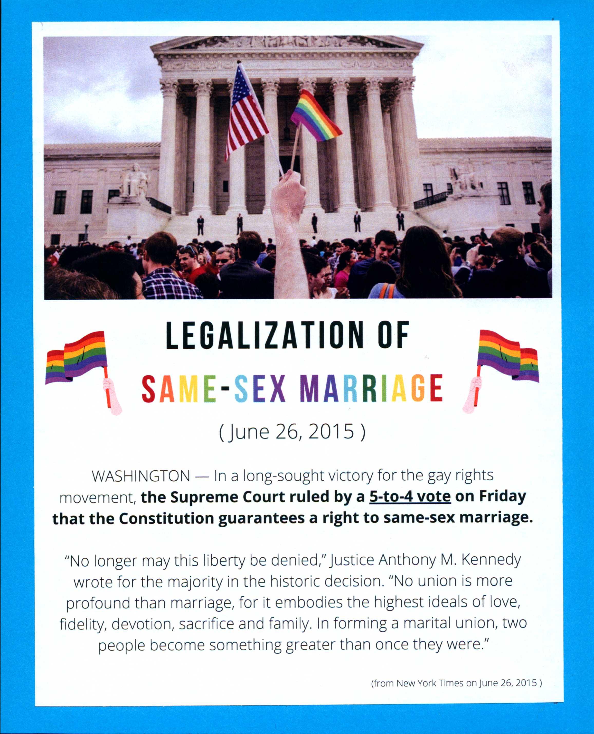 Legalization of Same-Sex Marriage Information Art
