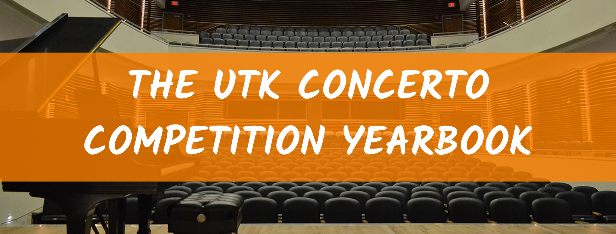 UTK Concerto Competition Yearbook Banner Art