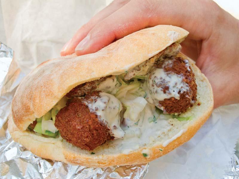 Picture of Falafel sandwich