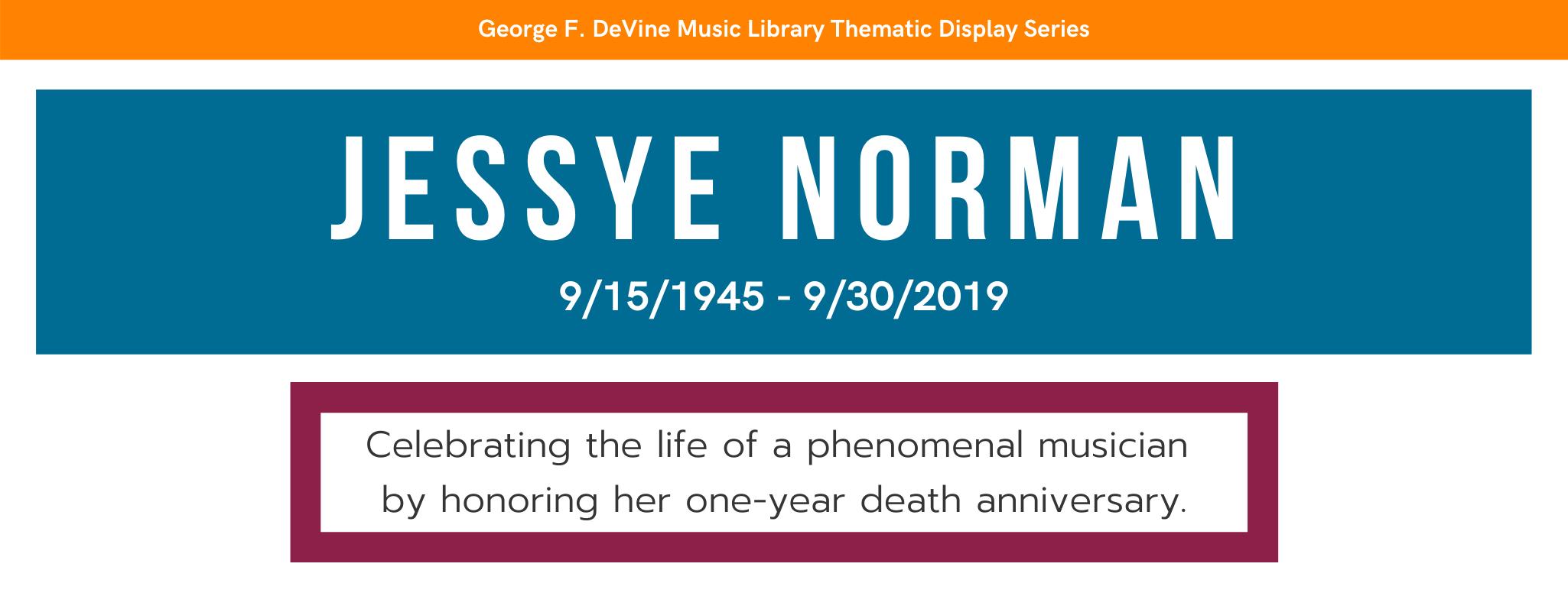 Jessye Norman Memorial Banner Art