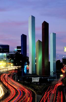Satellite City by Luis Barragán and Mathies Goeritz
