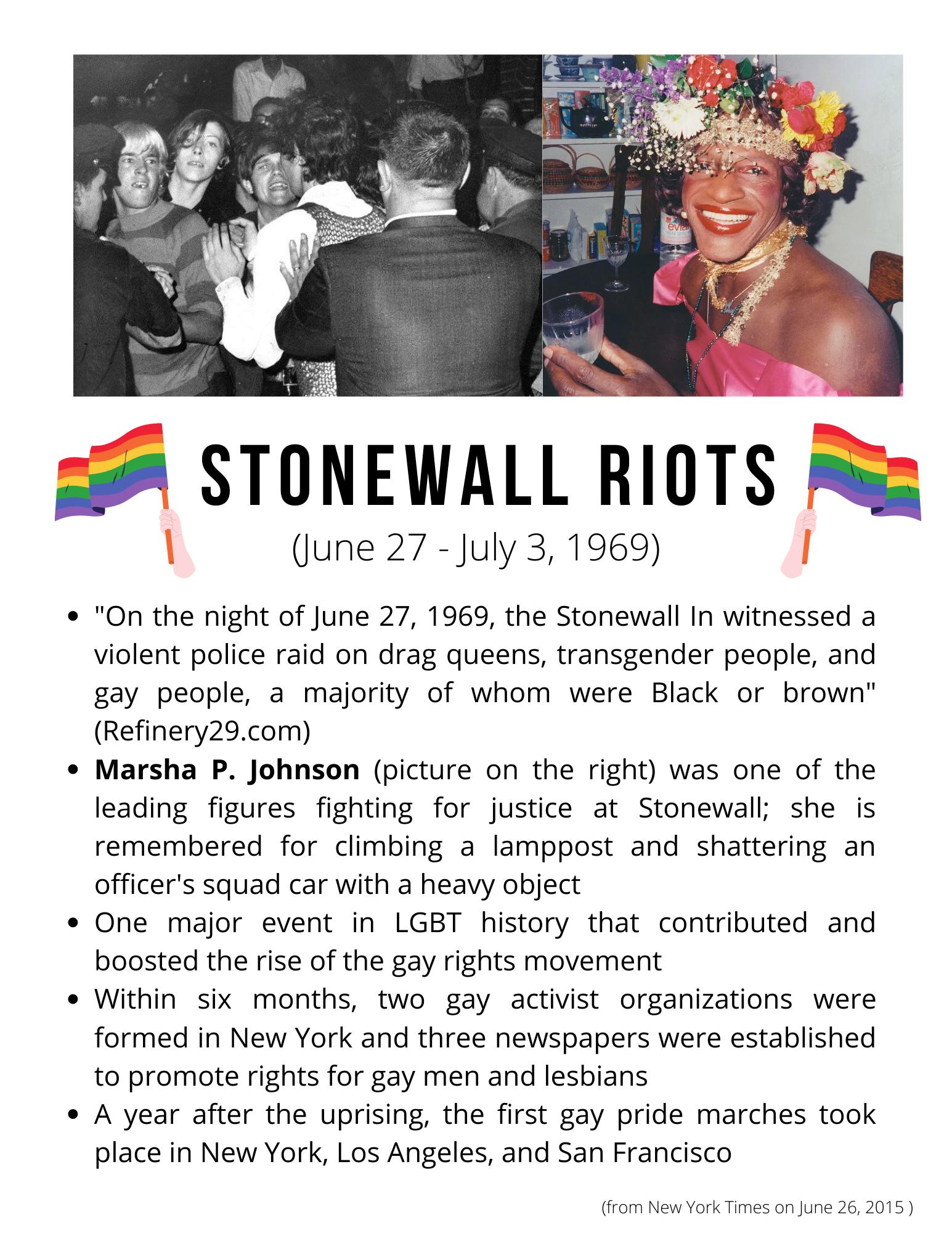 Stonewall riots history art