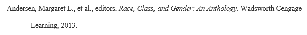 Example MLA citation for multiple editors as author: Andersen, Margaret L., et al., editors. Race, Class, and Gender: An Anthology. Wadsworth Cengage Learning, 2013.