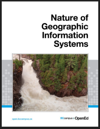 """Book cover for """"Nature of Geographic Information Systems."""""""
