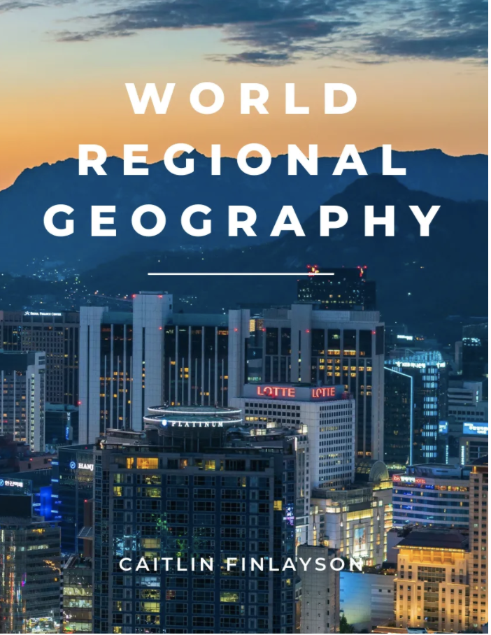 """Book cover image for """"World Regional Geography"""""""