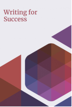 """Book cover for the text """"Writing for Success"""""""
