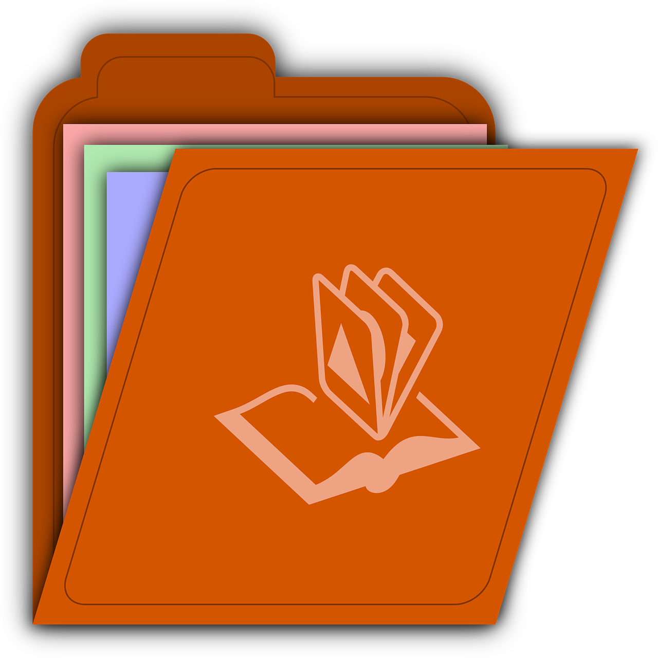 Image of a folder with book symbol