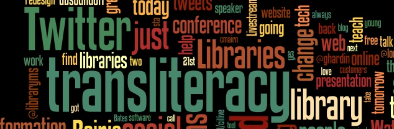 Photo of transliteracy word bubble