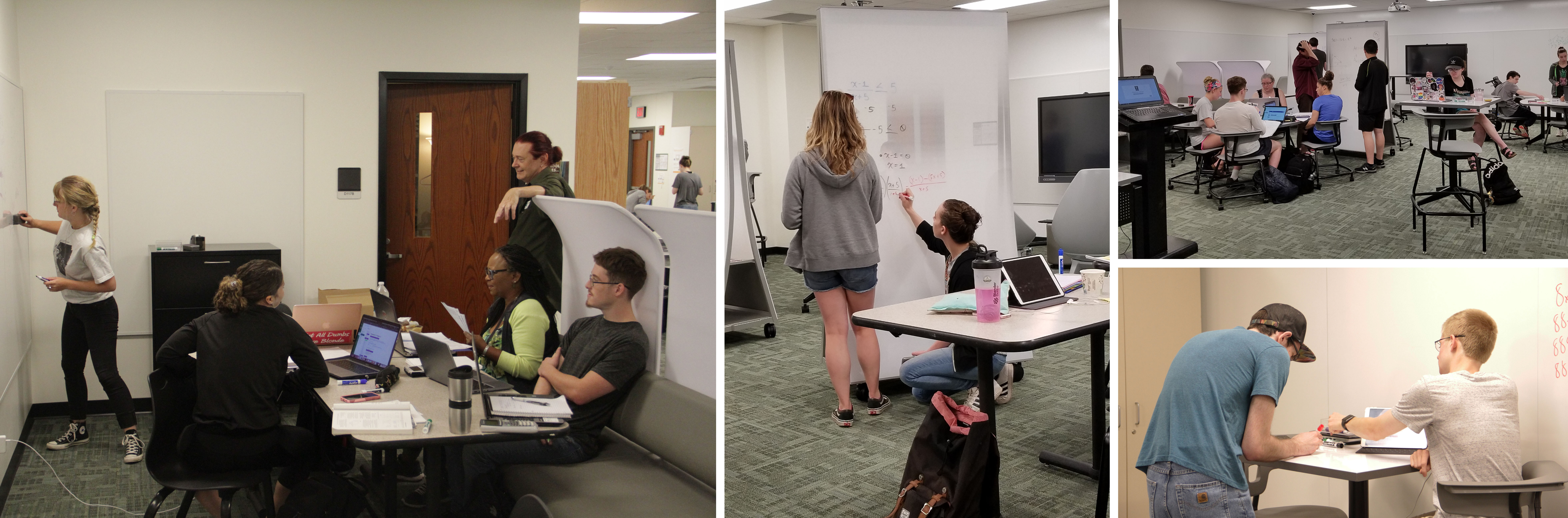 Students and tutors working and studying in the Student Success Center