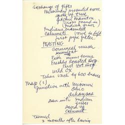 Notes from Herbert Hake.