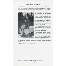 Image of an article from a woman's student handbook.