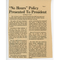 Article about 'no hour' policy.