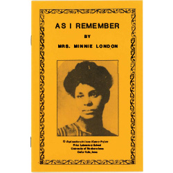 Pamphlet about a black woman's experience in the 1800s.