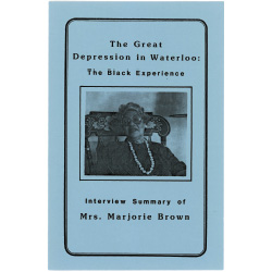 Pamphlet about Mrs. Marjorie Brown