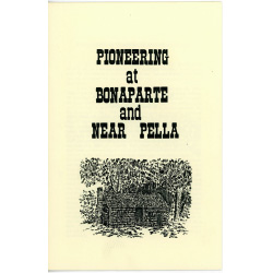 Pamphlet about pioneering in Iowa.