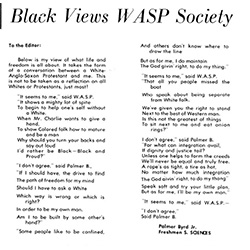 Article from 1969 written by a Black UNI student.