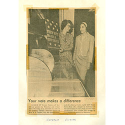A newspaper clipping for an article,