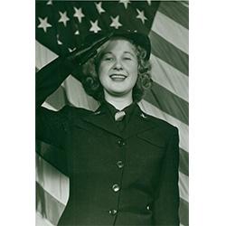 Image of woman saluting.