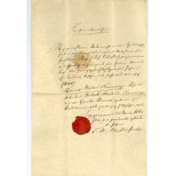Baptism certificate for Berend Wickers Nanninga.