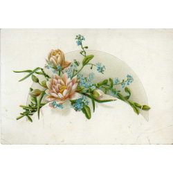 Card with flowers on the front
