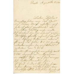 Letter written by a German immigrant