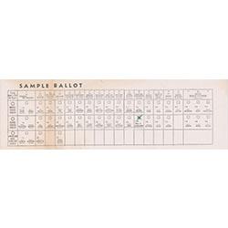 Image of sample ballot