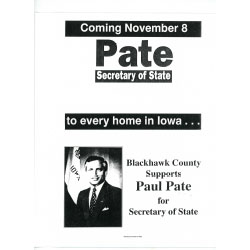 Image of flyer for Paul Pate.