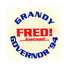 Image of sticker for Fred Grandy.
