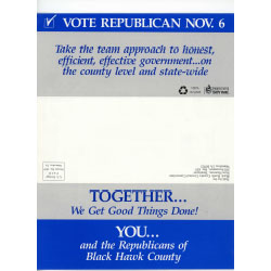Image of political mailer.