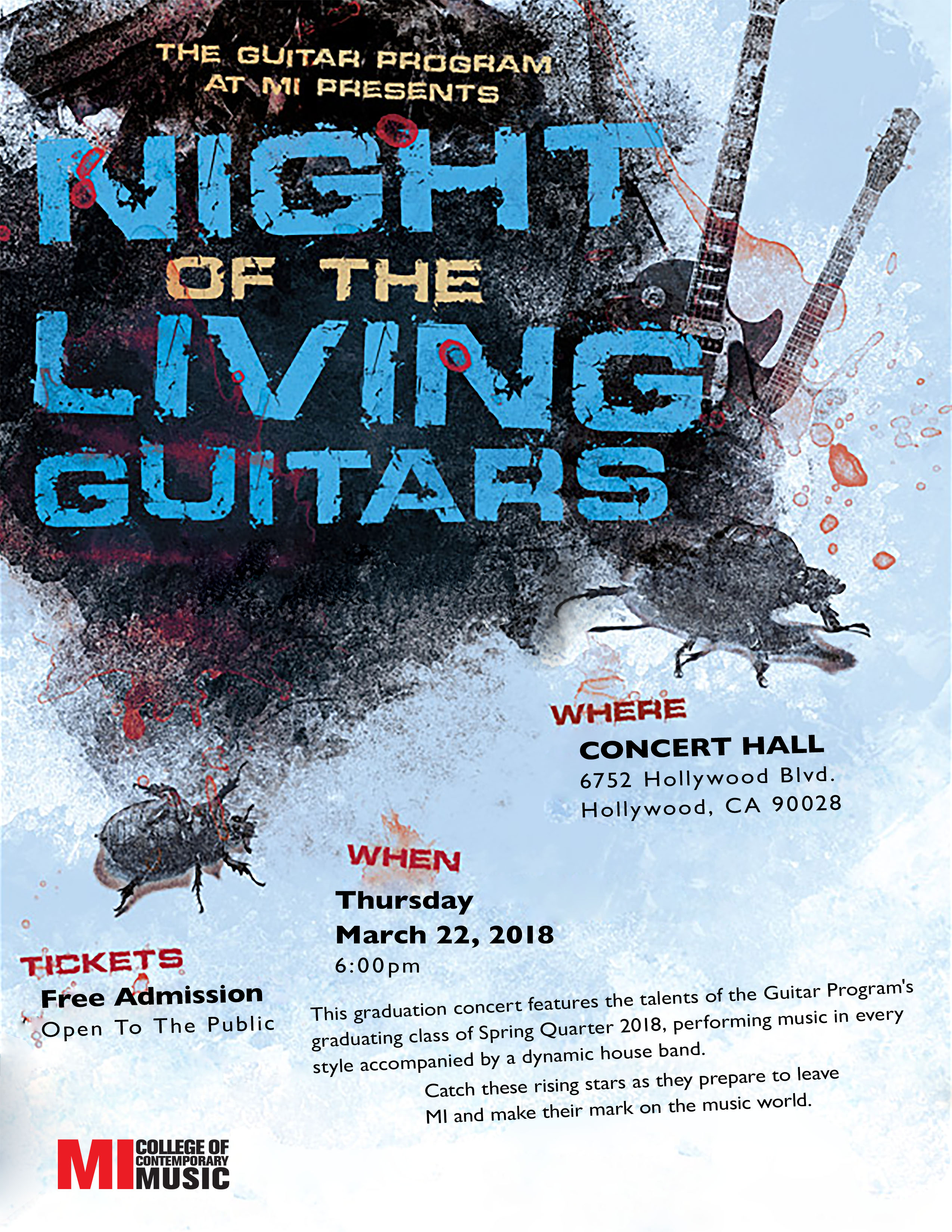 THE GUITAR  THURSDAY, MARCH 22, 2018 6-9PM