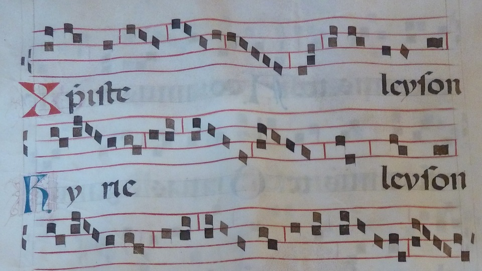 medieval music score