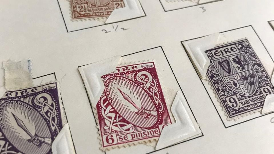 Irish stamps from Burns Library's facebook