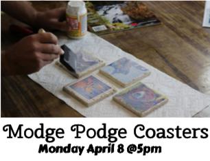 Modge Podge Coasters