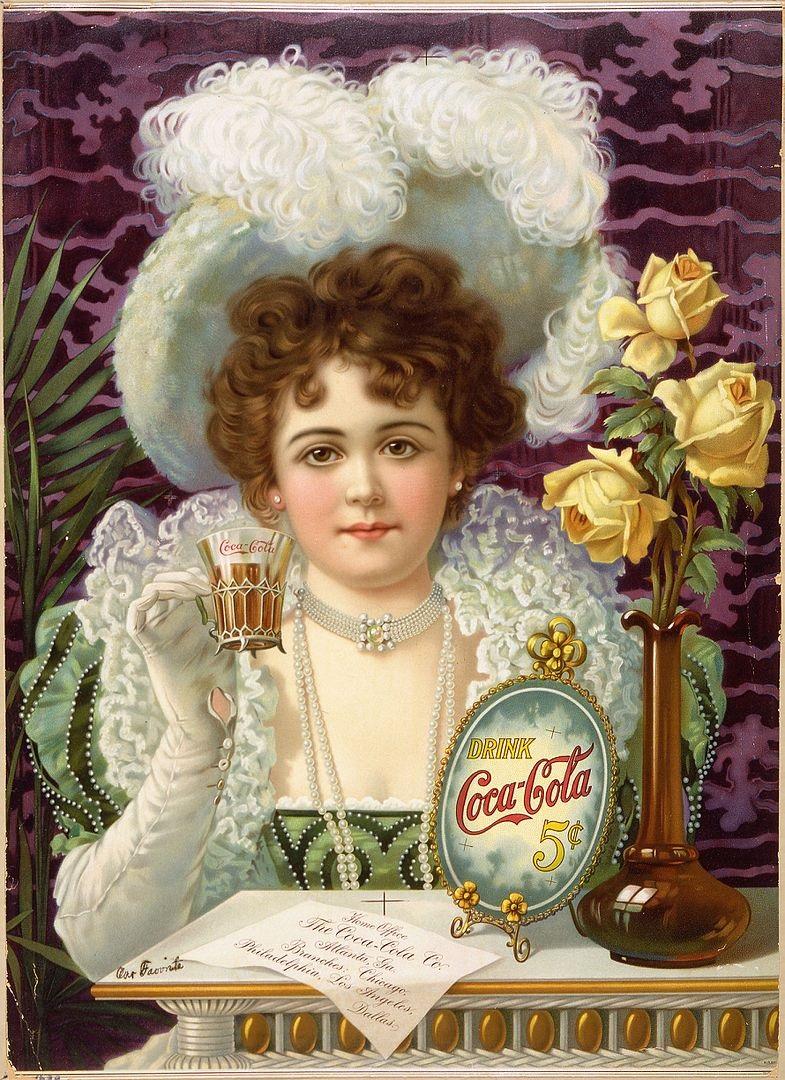 1900: lady in Coca Cola ad