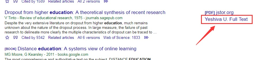 Google Scholar YU Full Text Link