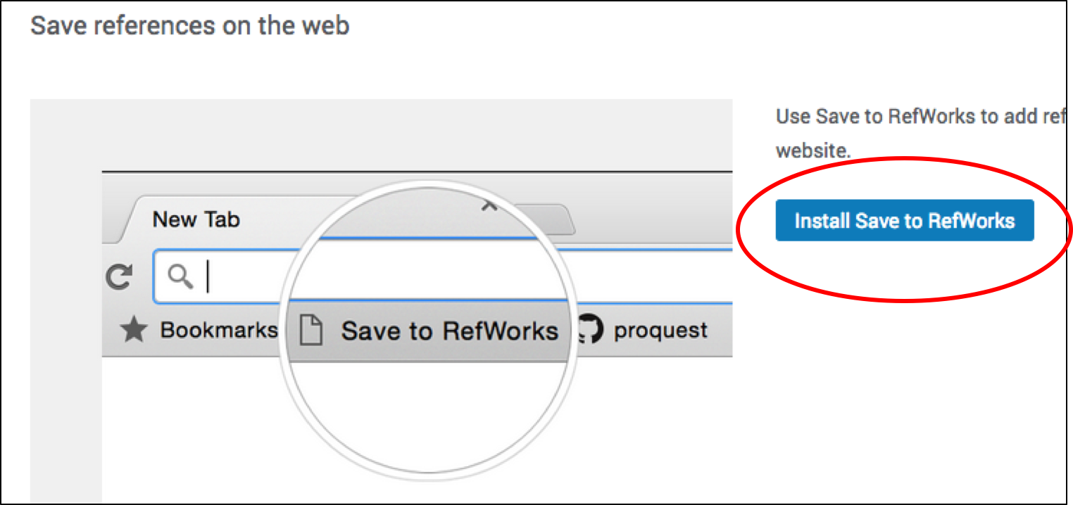 Install Save to Refworks button to your bookmarks toobar