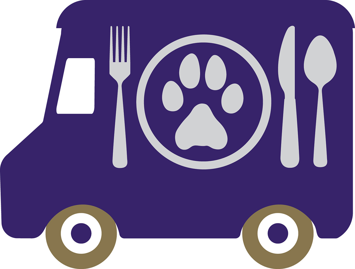 University of Washington Bothell Food Services food truck logo