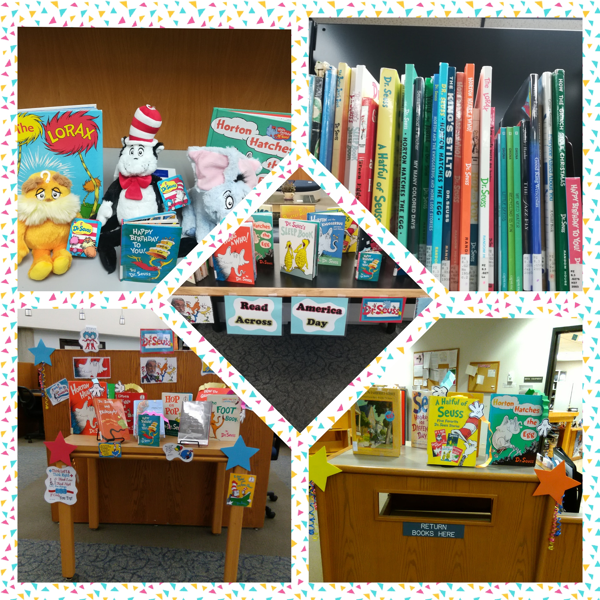 Happy Read Across America Day & Happy Birthday to Dr. Seuss! You can look at our past displays and check out featured  books  here