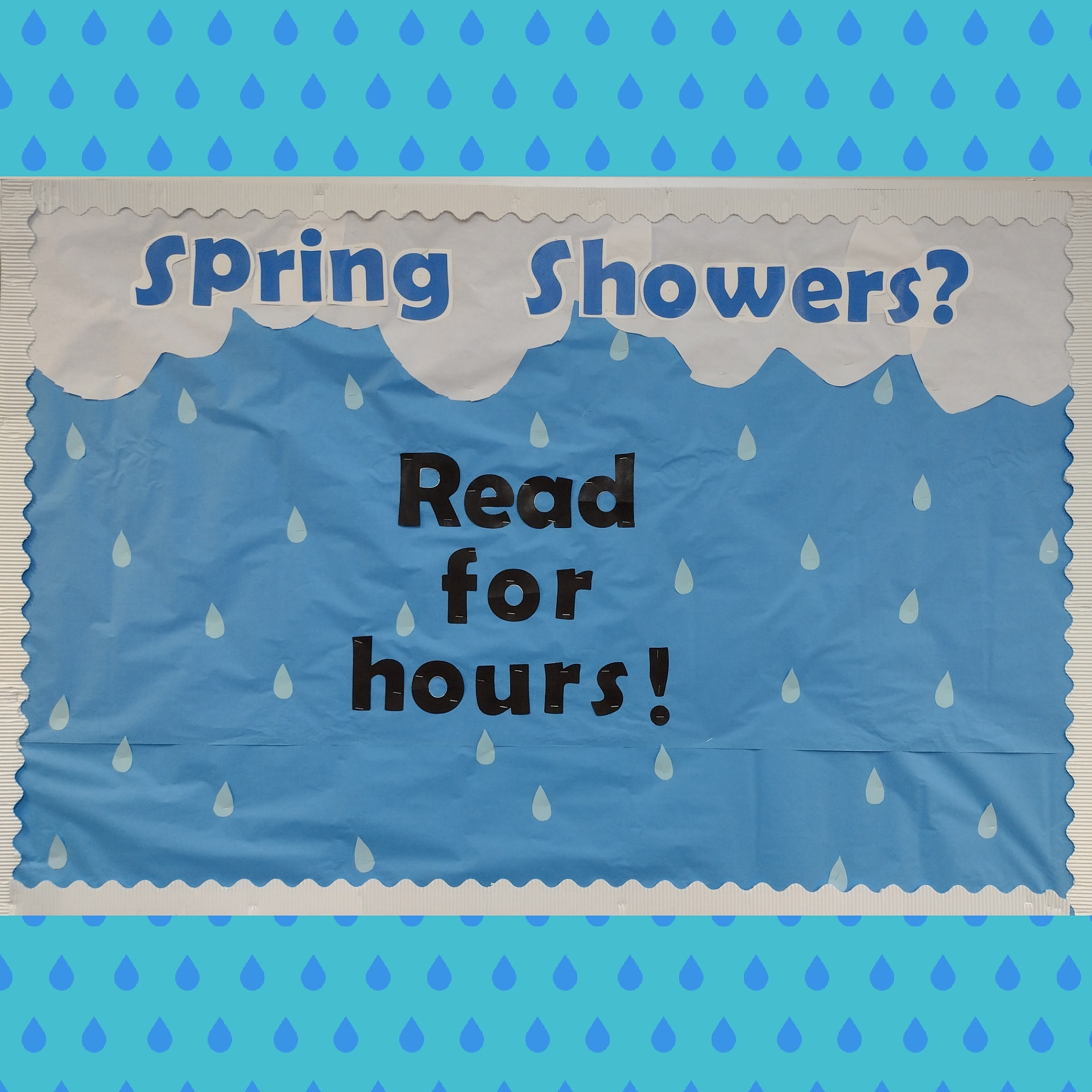 Spring Showers? Read for Hours! Spring 2021 board