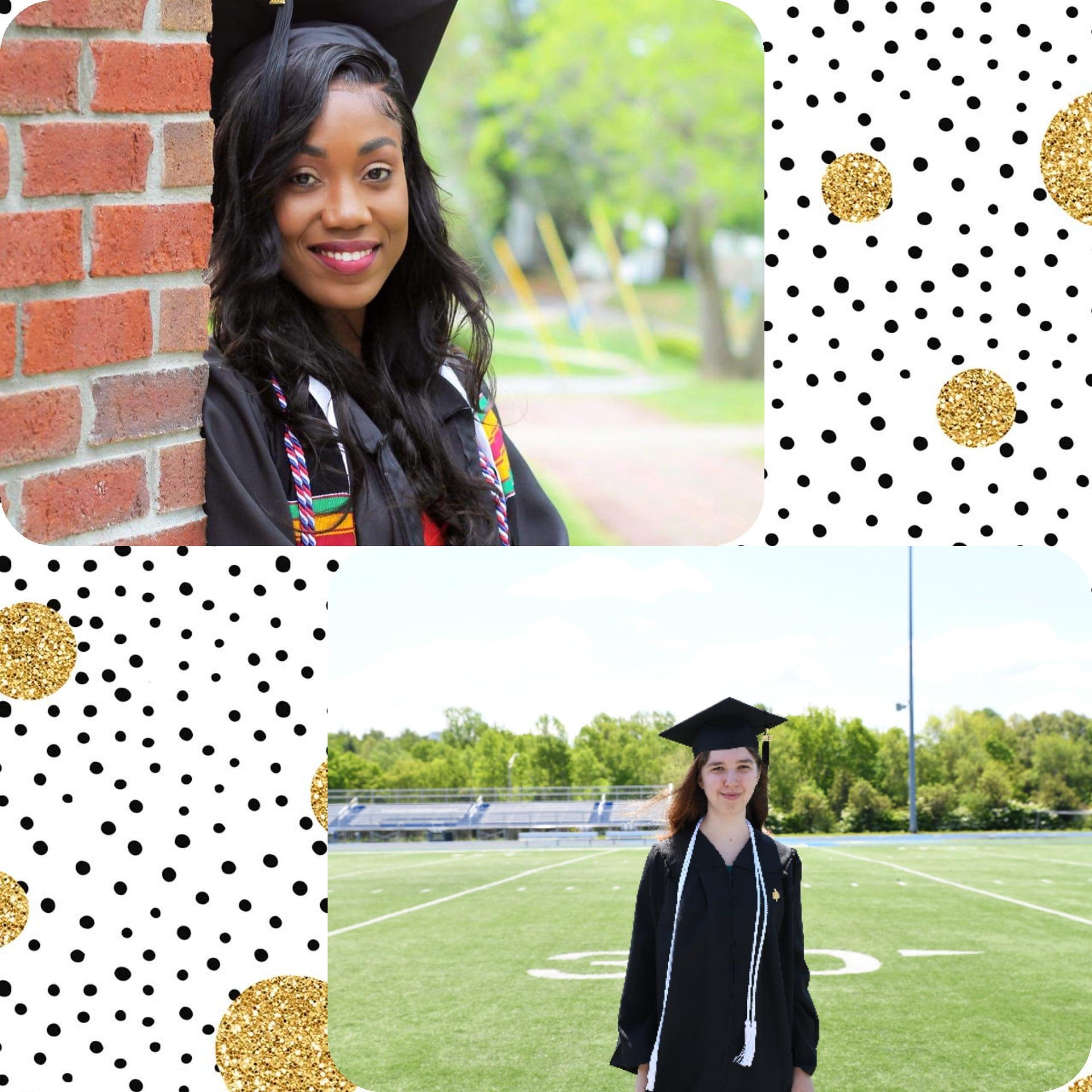 Congrats to our 2021 graduated seniors Jaccine Jeador and Katie Perkins!