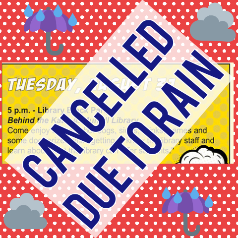 Library Block Party Cancelled  8/31/2021